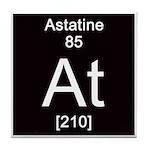 Periodic Table Astatine Tile Coaster