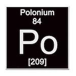 Periodic Table Polonium Tile Coaster