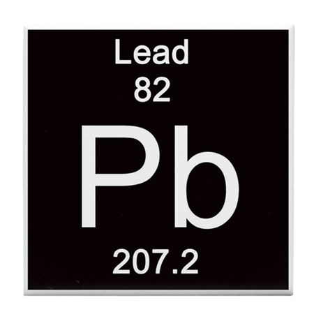 Periodic table lead tile coaster by sciencelady urtaz Choice Image