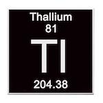 Periodic Table Thallium Tile Coaster