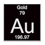 Periodic Table Gold Tile Coaster