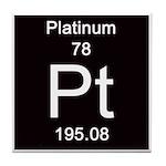Periodic Table Platinum Tile Coaster