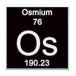 Periodic Table Osmium Tile Coaster