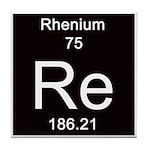 Periodic Table Rhenium Tile Coaster