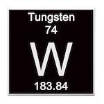 Periodic Table Tungsten Tile Coaster