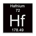 Periodic Table Hafnium Tile Coaster