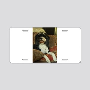 Konnor black and white Tibe Aluminum License Plate