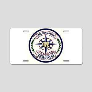 Chil Sung Kwan Federation Aluminum License Plate