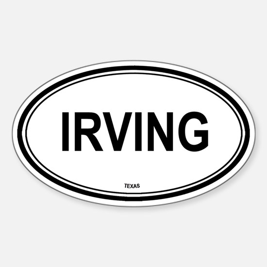 Irving (Texas) Oval Decal