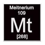 Periodic Table Meitnerium Tile Coaster