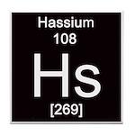 Periodic Table Hassium Tile Coaster