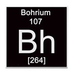 Periodic Table Bohrium Tile Coaster