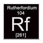 Periodic Table Rutherfordium Tile Coaster