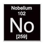 Periodic Table Nobelium Tile Coaster