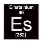 Periodic Table Einsteinium Tile Coaster