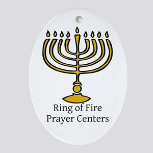 Ring of Fire Menorah Ornament (Oval)