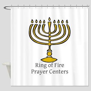 Ring of Fire Menorah Shower Curtain