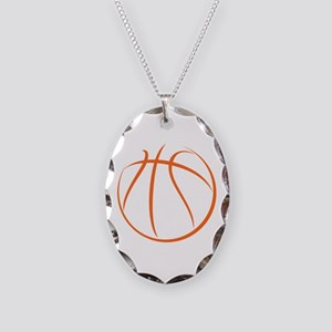 Basketball Necklace Oval Charm