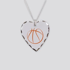 Basketball Necklace Heart Charm