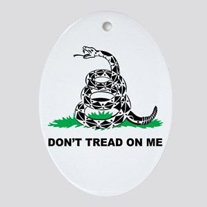 Dont Tread on Me Ornament (Oval)