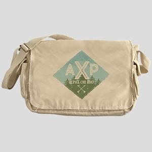 Apha Chi Rho Mountains Diamonds Blue Messenger Bag