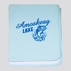 Amoskeag Lake baby blanket