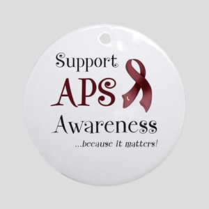 Support APS Awareness Ornament (Round)