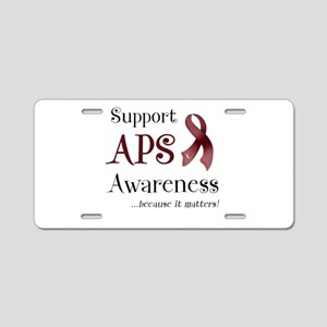 Support APS Awareness Aluminum License Plate
