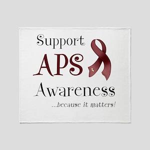 Support APS Awareness Throw Blanket