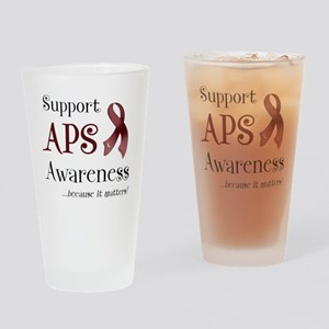 Support APS Awareness Drinking Glass