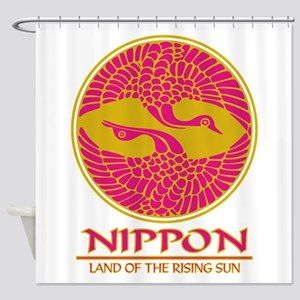 Nippon (Crane) Magenta Shower Curtain