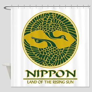 Nippon (Crane) green Shower Curtain