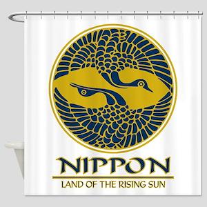 Nippon (Crane) Blue Shower Curtain