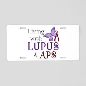 Living with Lupus APS Aluminum License Plate