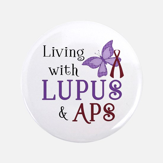"Living with Lupus APS 3.5"" Button (100 pack)"