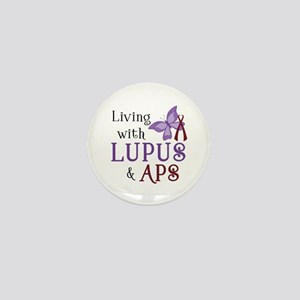Living with Lupus APS Mini Button