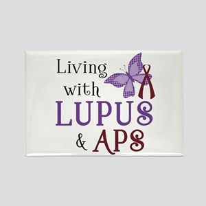 Living with Lupus APS Rectangle Magnet