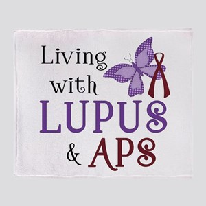Living with Lupus APS Throw Blanket