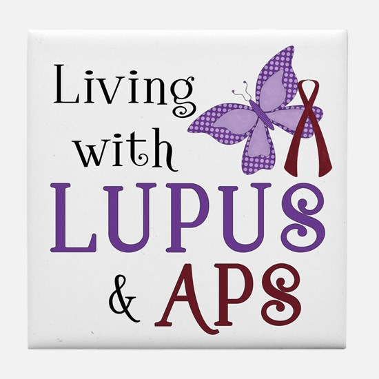 Living with Lupus APS Tile Coaster
