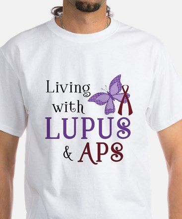 Living with Lupus APS White T-Shirt