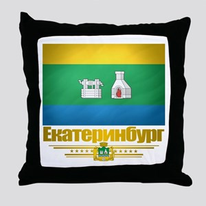 Yekaterinburg Flag Throw Pillow