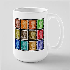 UK Stamps Large Mug