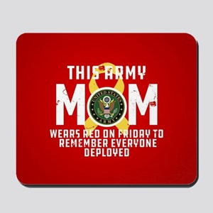 Army Mom Wears RED Mousepad