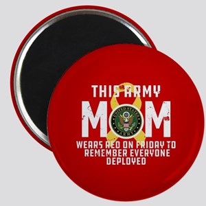 Army Mom Wears RED Magnet