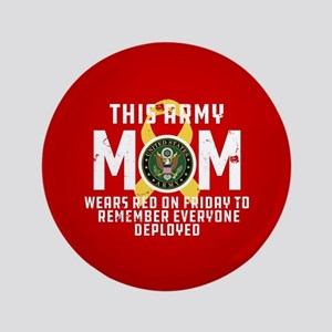 Army Mom Wears RED Button