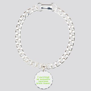 Acoustic neuroma brain tumor - Charm Bracelet, One