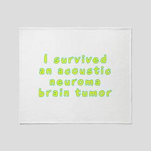 Acoustic neuroma brain tumor - Throw Blanket