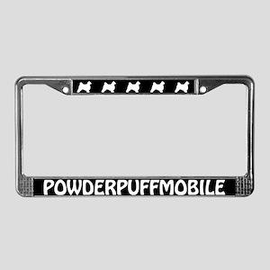 Crestie Powderpuffmobile License Plate Frame