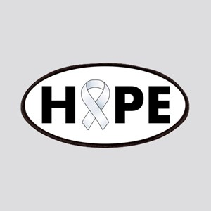 White Ribbon Hope Patches
