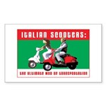 Italian Scooters Rectangle Sticker
